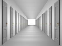 Couloir sans fin Photo stock