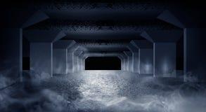 Couloir sombre du garage souterrain illustration de vecteur