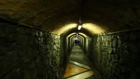 Couloir sombre, Valparaiso banque de vidéos