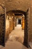 couloir d'une vieille cave images stock