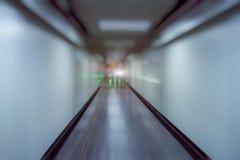 Couloir vide d'aéroport moderne à Changhaï Photographie stock