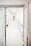 Couloir vide d'hôpital Images stock