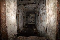 couloirs abandonnés de base soviétique de lancement de fusée de courrier en Lettonie image libre de droits
