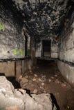 couloirs abandonnés de base soviétique de lancement de fusée de courrier en Lettonie photos libres de droits
