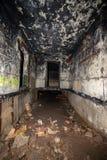 couloirs abandonnés de base soviétique de lancement de fusée de courrier en Lettonie image stock