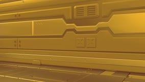 Couloirs de rendu intérieurs de vaisseau spatial de la science fiction de fiction de fond de la Science, illustration 3D illustration libre de droits