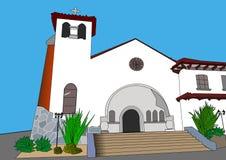 coulor的白色教堂 免版税图库摄影