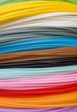 Coulors industriales del cable Imagen de archivo libre de regalías