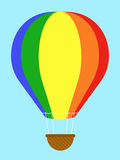 Coulourful hot-air balloon Royalty Free Stock Photography