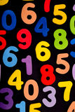 Coulourful Numbers on Black Royalty Free Stock Photo