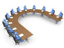 The Council. People having a business meeting Royalty Free Stock Images