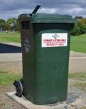 Council bin in public park stock photos
