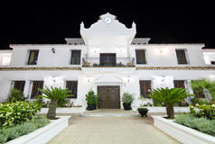 Council building at night in the touristic village of Mijas, Malaga, Spain Stock Photography
