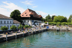 Council building at the  quay in Konstanz Royalty Free Stock Images