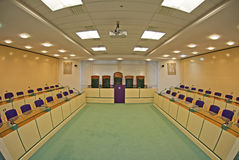 Council Chamber. The inside of a Council Chamber within a County Council in the UK royalty free stock images