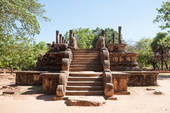 Council Chamber of King Parakramabahu in ancient city Polonnaruwa, Sri Lanka Stock Image