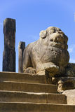 Council Chamber, Polonnaruwa, Sri Lanka. Image of a lion at the Council Chamber on the grounds of the ancient Royal Palace at Polonnaruwa, Sri Lanka built by Stock Photo