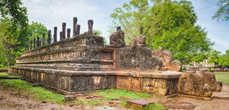 The Council Chamber, Polonnaruwa, Sri Lanka. Panorama Stock Photos