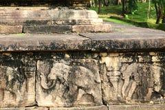 Council Chamber, Polonnaruwa in Sri Lanka Stock Photos