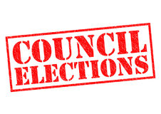 COUNCIL ELECTIONS Royalty Free Stock Photos