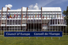 Council of Europe Building - Strasbourg - France Royalty Free Stock Image