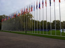 The Council of Europe. Strasbourg. The flags of EU member states Stock Image