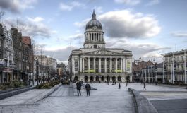 Council House, Old Market Square, Nottingham stock images