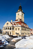 Council House in winter. Brasov, Romania Stock Images