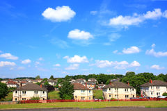 Council Houses in Scotland Royalty Free Stock Photos