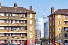 Council housing blocks and modern tower block flats Stock Image