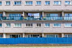 Council housing flats in East London. Facade of council housing flats in East London Royalty Free Stock Images