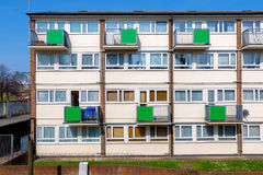 Council housing flats in East London. Facade of council housing flats in East London Royalty Free Stock Photography