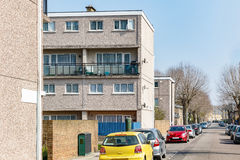 Council housing flats in East London. Row of council housing flats in East London Stock Photography
