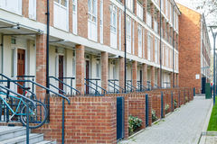 Council housing flats in East London. Row of council housing flats in East London Stock Photos