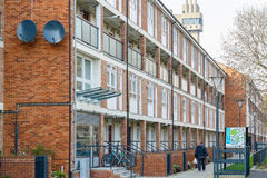 Council housing flats in East London. Row of council housing flats in East London Royalty Free Stock Image