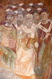 Council of Nicaea. Detail of a fresco of the first council of Nicaea. From the church of St nicholas, Demre, Southern turkey stock images