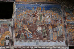 The Council of Nicea. Painting of `The Council of Nicea` in Sumela monastery, Macka, Trabzon, Turkey stock photography