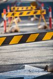 Council road blocks Royalty Free Stock Photo