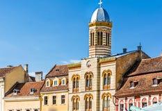 Council Square in Brasov stock image