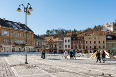 Council Square Of Brasov City Stock Photos