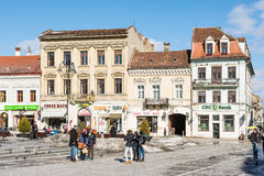 Council Square Of Brasov City Stock Images