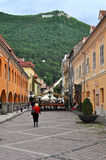 The Council square, Brasov city, Romania Royalty Free Stock Photos