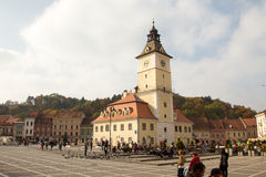 The Council Square in Brasov Royalty Free Stock Photos