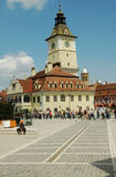 The Council square in Brasov, Romania Royalty Free Stock Photography