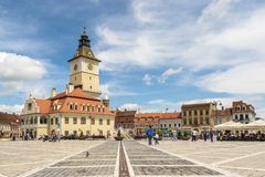 The Council Square, Brasov, Romania Royalty Free Stock Images