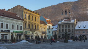 Council Square, Brasov, Romania stock video footage