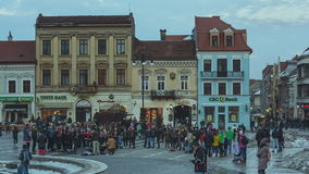Council Square, Brasov, Romania stock footage