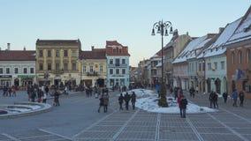 Council Square, Brasov, Romania stock video footage