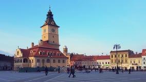 Council Square, Brasov, Romania stock video