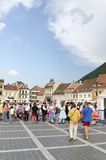 The Council Square, Brasov, Romania Stock Photos